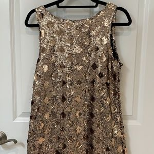 Coppery Gold Mini Sequined Dress (Medium - Zara)